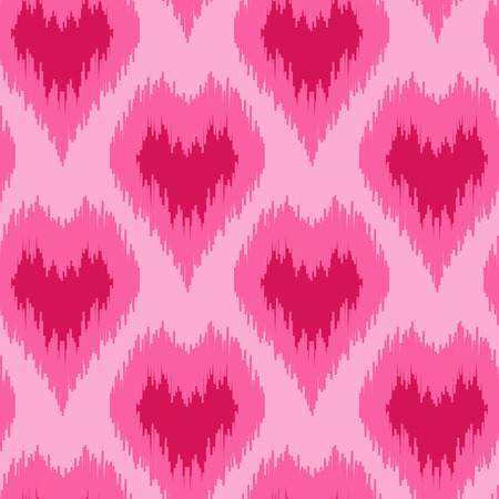 Ethnic seamless pattern with hearts