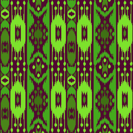 Boho Green Seamless Pattern Illustration