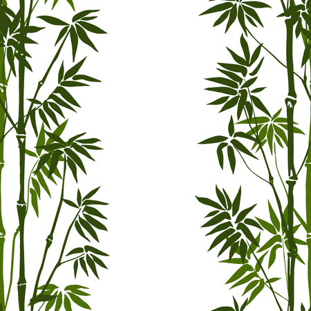 Bamboo Seamless Vertical Pattern