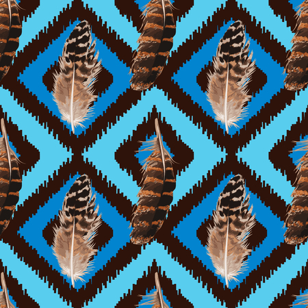 Feather Seamless Pattern Illustration