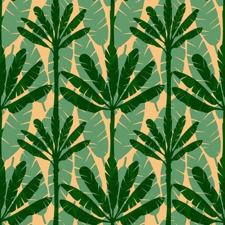 banana sheet: Banana Tree Seamless Pattern Illustration