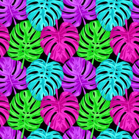 Pink Monstera Seamless Pattern