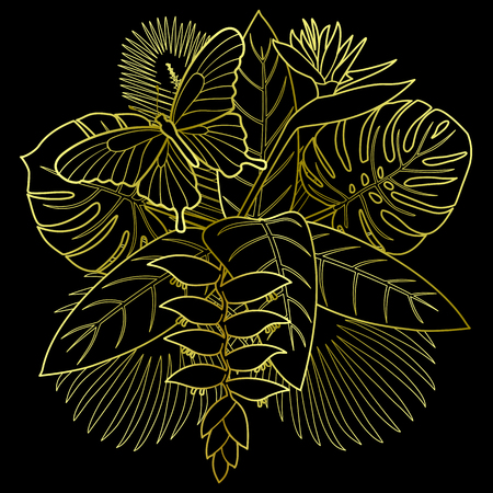 Golden Tropical Bouquet