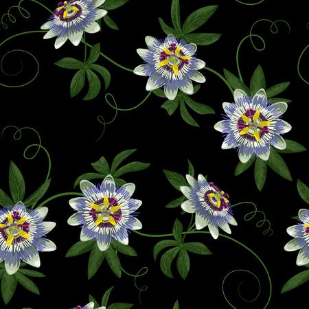 passiflora: Passiflora Seamless Pattern
