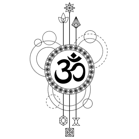 Om Modern Tattoo Illustration