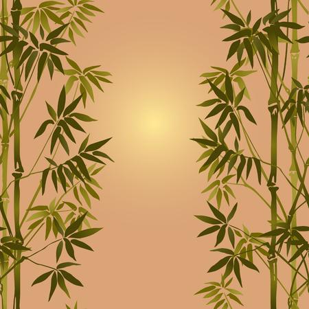 Bamboo Seamless Vertical Border