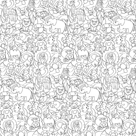 Animal Toys Seamless Pattern