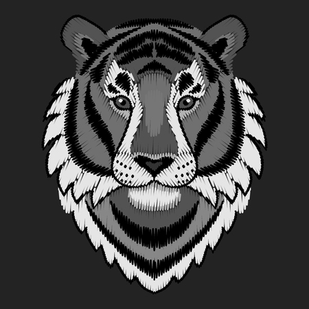 Embroidery Tiger Head