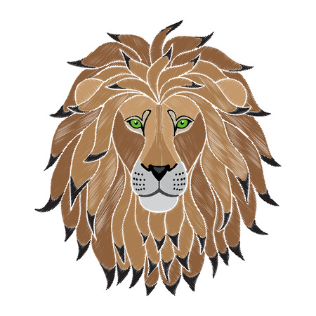 Embroidery Lion Head