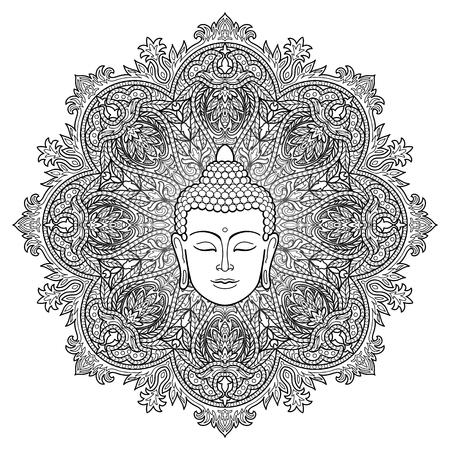 Buddha Mandala Coloring Page