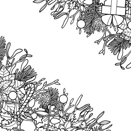 Christmas Outline Angular Composition
