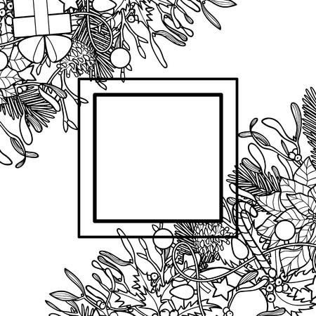 Composición Para Colorear De Venta De Invierno Patrón