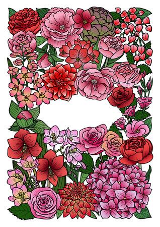 Garden Flowers Mock Up Vectores