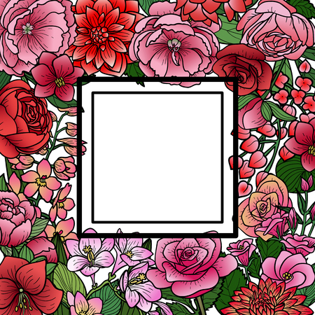 Garden Flowers Mock Up Frame