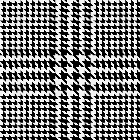 Check fashion tweed black seamless pattern with fabric imitation in white background for textile prints, wallpaper, wrapping.