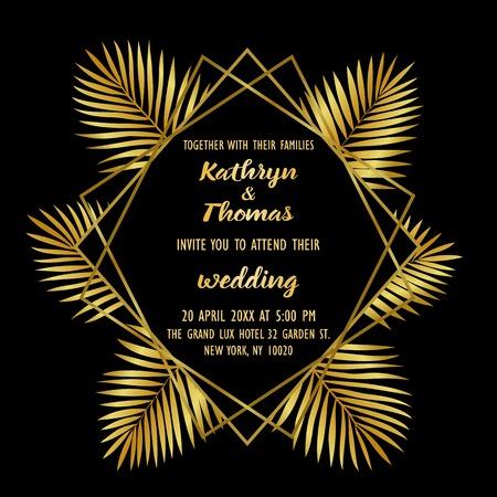 Wedding Luxury Tropical Invitation Card