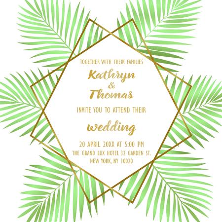 Wedding Tropical Invitation Card Illustration