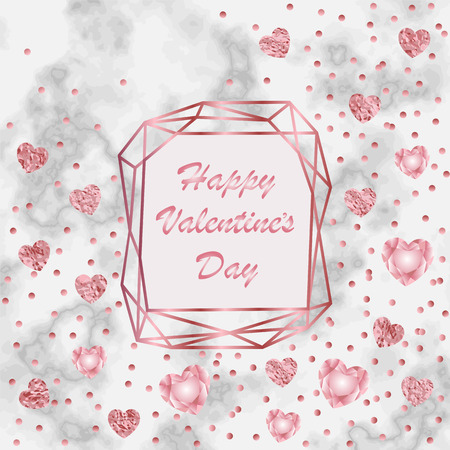 Happy Valentines Day Greeting Card Illustration