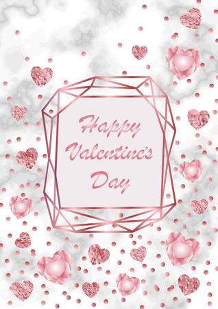 Happy Valentines day greeting card. Illustration