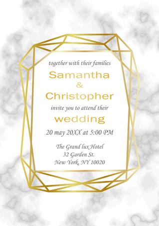 Wedding luxury invitation. Illustration