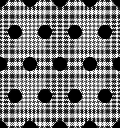 Check and Polka Dot Fashion Seamless Pattern Vettoriali