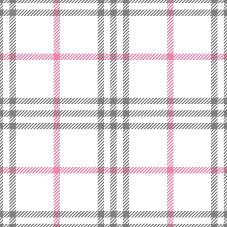 Check fashion tweed white, pink and gray seamless pattern for fashion textile prints, wallpaper, wrapping, fabric imitation and backgrounds. Vettoriali