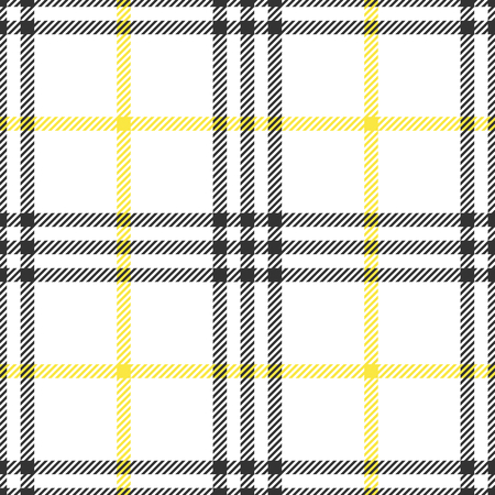 Check fashion tweed white, yellow and gray seamless pattern for fashion textile prints, wallpaper, wrapping, fabric imitation and backgrounds.