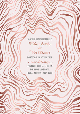Wedding Pink Gold Invitation