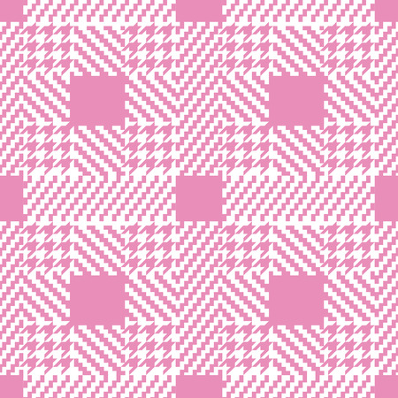 Check fashion tweed white and pink seamless pattern for fashion romantic textile prints, wallpaper, wrapping, fabric imitation and backgrounds.