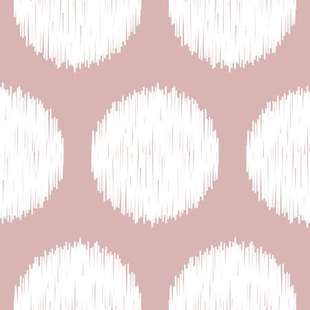 Boho Polka Dot Nude Seamless Pattern Illustration