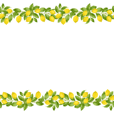 Lemon Brunches Seamless Border