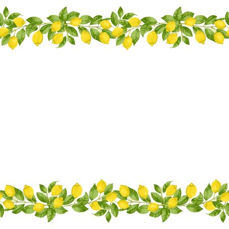 Frontera sin costuras de brunches de limón