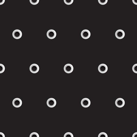 Golden Eyelet Seamless Pattern Stock Photo