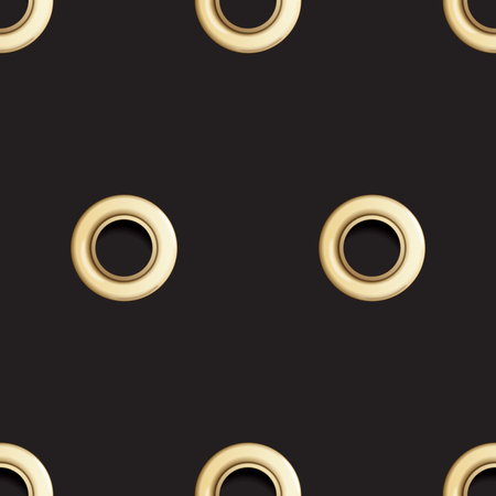 Golden Eyelet Seamless Pattern Stock Photo