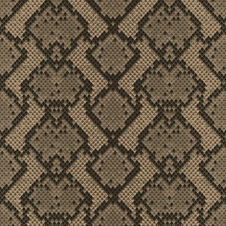 Snake skin beige and brown seamless pattern. Animal colorful repeat wallpaper for textile prints, backgrounds, wrapping. Stock Illustratie