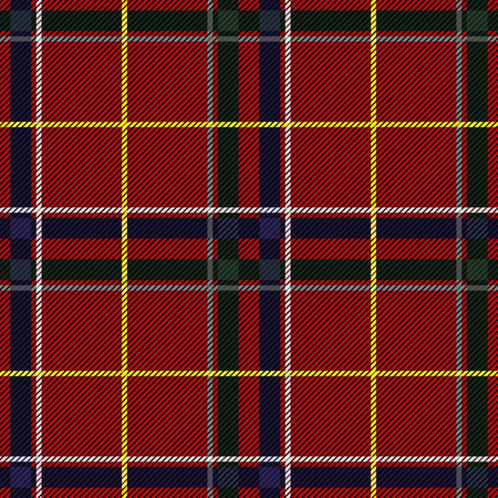Scottish Tartan Checkered Seamless Pattern. Vector Repeat Background Vettoriali