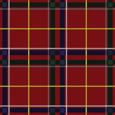 Patrón sin costuras a cuadros de tartán escocés. Vector fondo de repetición Ilustración de vector