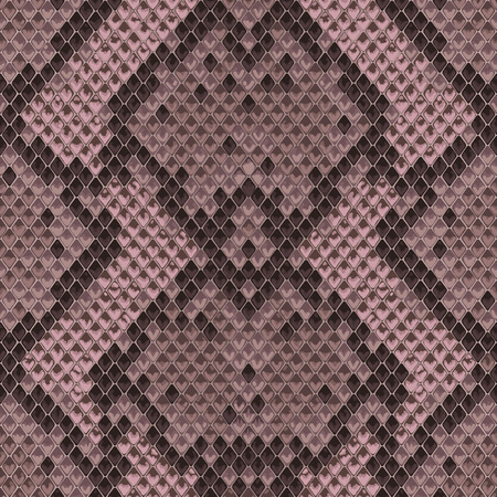 Snake skin pink and maroon seamless pattern. Animal colorful repeat wallpaper for textile prints, backgrounds, wrapping.