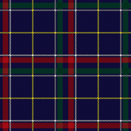 Scottish Tartan Checkered Seamless Pattern. Vector Repeat Background Vettoriali