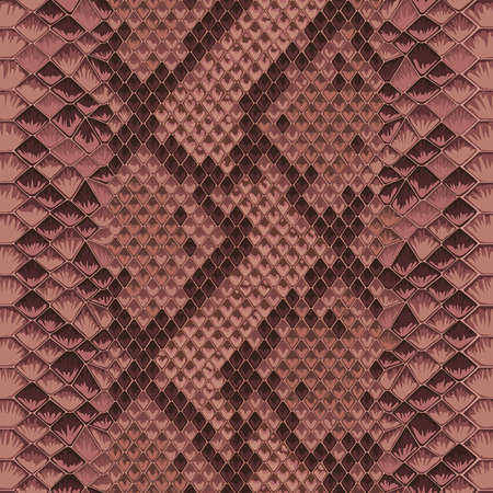 Snake skin pink and maroon seamless pattern. Animal colorful repeat wallpaper for textile prints, backgrounds, wrapping. Vector Illustration