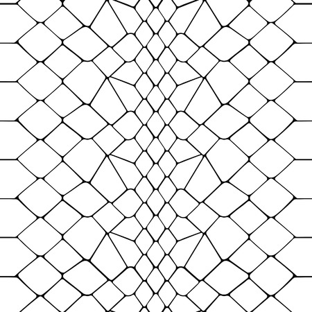 Snake skin black and white seamless pattern. Animal outline repeat wallpaper for textile prints, backgrounds, wrapping. Çizim
