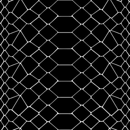 Nahtloses Schwarzweiss-Muster der Schlangenhaut. Tierumriss wiederholen Tapete für Textildrucke, Hintergründe, Verpackung.