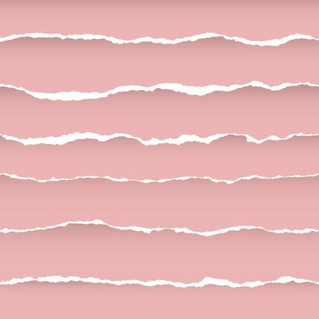 Modèle sans couture de papier déchiré avec des rayures d'horizon