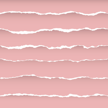 Ripped Paper Seamless Pattern with Horizon Stripes