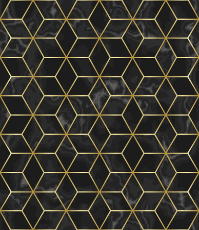 Luxury marble star sign seamless pattern. Repeat marbling surface with gold decor, modern luxurious background, wallpaper, textile print and tile.