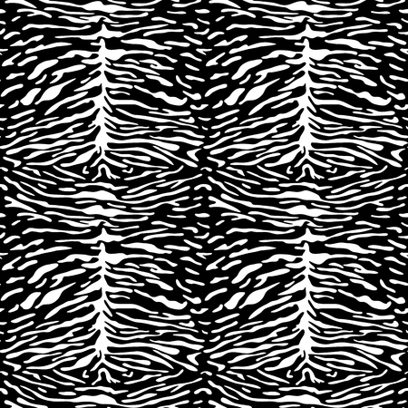 Abstract animal tiger seamless pattern. Animal repeat fashion background for wallpaper, textile prints, black and white interior decoration. Çizim