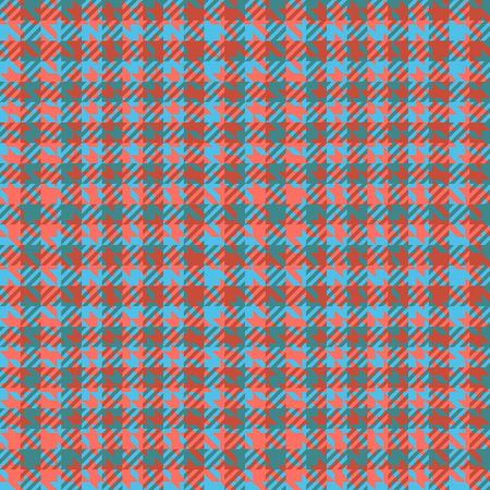 Check fashion tweed blue and coral seamless pattern for fashion textile prints, wallpaper, wrapping, trendy fabric imitation and backgrounds.