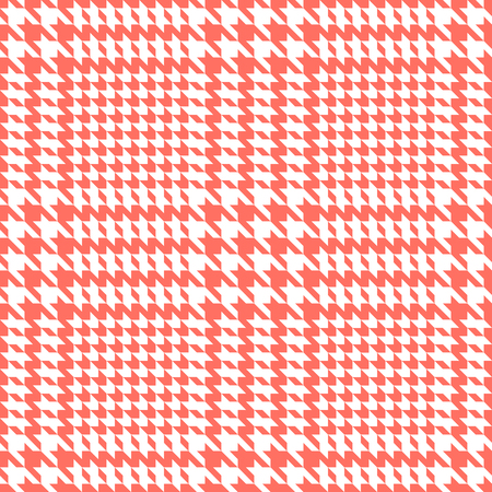 Check fashion tweed white and coral seamless pattern for fashion textile prints, wallpaper, wrapping, trendy fabric imitation and backgrounds.