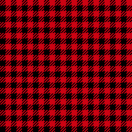 Check fashion vichy red and black seamless pattern for fashion textile prints, wallpaper, wrapping, trendy fabric imitation and backgrounds.