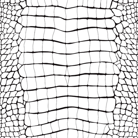 Crocodile Skin Black and White Seamless Pattern